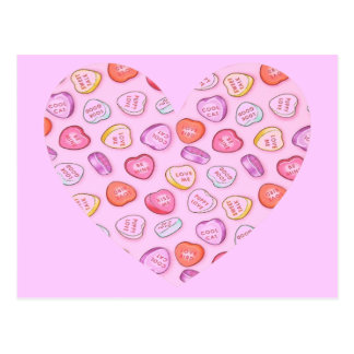 Candy Heart Post Cards