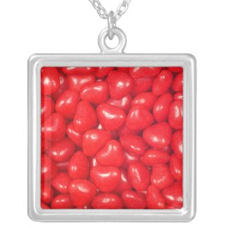 Candy Heart Red Sterling Silver Photo Pendant necklace