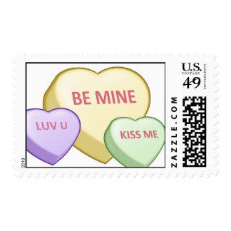 Candy Heart Valentine's Postage Stamp