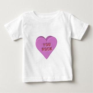 "Candy Heart ""YOU ROCK"" Baby T-Shirt"
