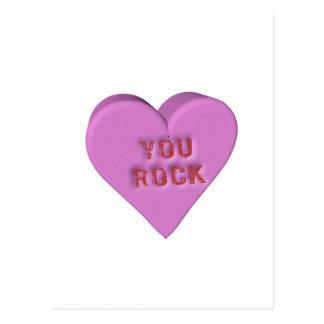 "Candy Heart ""YOU ROCK"" Postcard"
