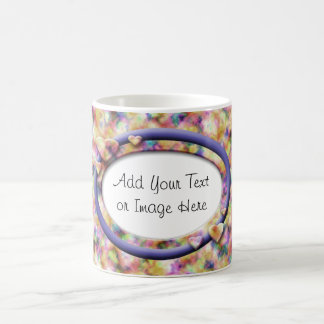 Candy Hearts #4 (Blue Ribbon) Coffee Mug