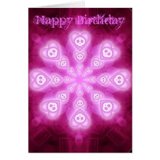 Candy Hearts and Skulls Birthday Card