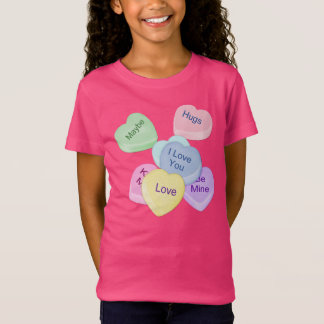 Candy Hearts and Text T-Shirt