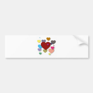 Candy Hearts Bumper Stickers