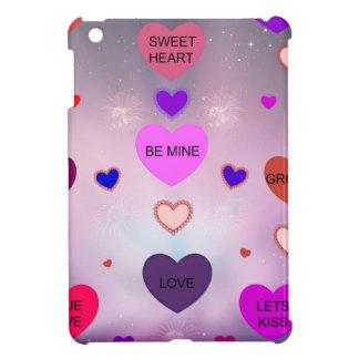 Candy Hearts by Diamante Lavendar! iPad Mini Cases