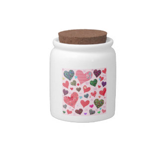 Candy Hearts Candy Jar
