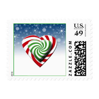 Candy Hearts Christmas Postage