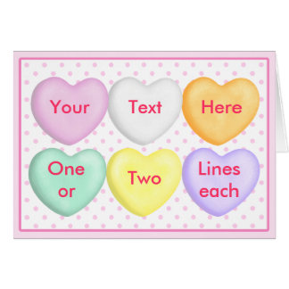 Candy Hearts, Conversation Hearts, Blank Cards