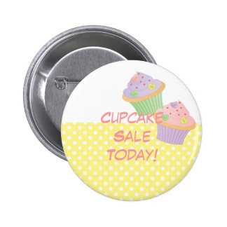 Candy Hearts Cupcakes 2 Inch Round Button