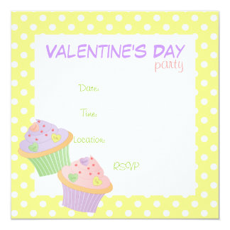 Candy Hearts Cupcakes Card