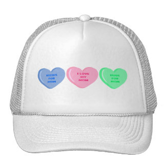 Candy hearts for Mom Trucker Hat