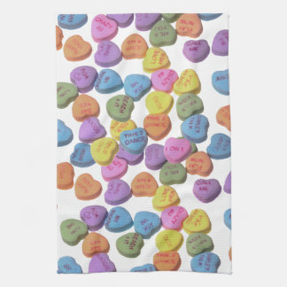Candy Hearts Hand Towel