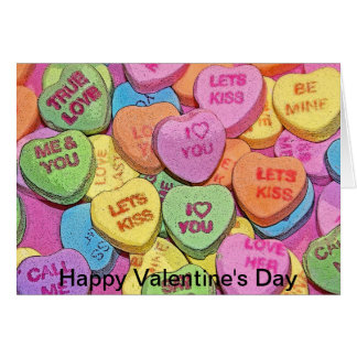 Candy Hearts I love You Valentine's Day Card
