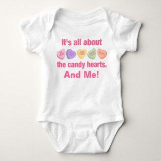 Candy Hearts II Baby Bodysuit