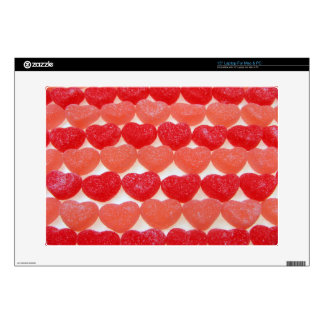 """Candy Hearts In A Row 15"""" Laptop Decals"""