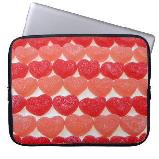 Candy Hearts In A Row Computer Sleeve