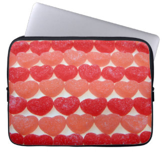 Candy Hearts In A Row Laptop Sleeve