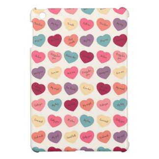 Candy Hearts - Kiss Me iPad Mini Case