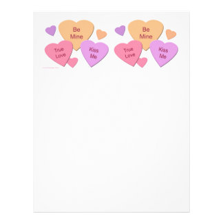 Candy Hearts Letterhead
