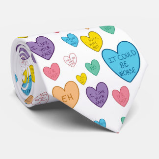 Candy Hearts Neck Tie