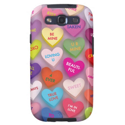 Candy Hearts Phone Case Galaxy SIII Cases
