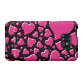 Candy Hearts Pink Hard Case Samsung Galaxy S Cases