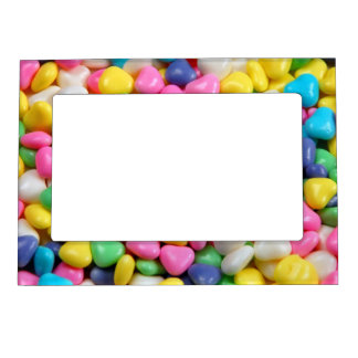Candy hearts print magnetic picture frame