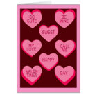 CANDY HEARTS Valentine Card
