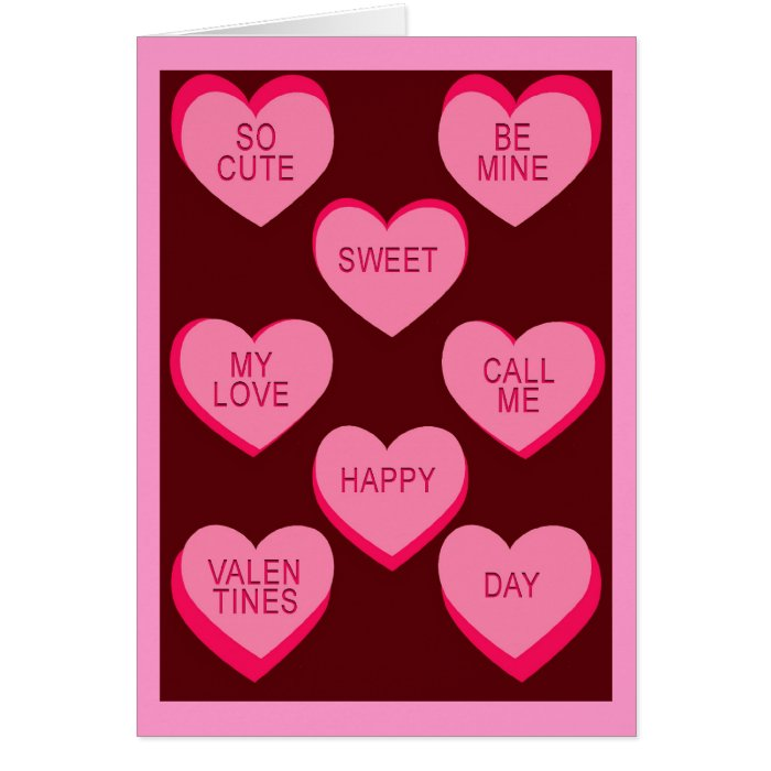 conversation hearts valentines day cards hearts card zazzle 6067