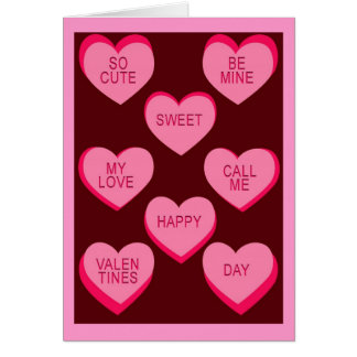 CANDY HEARTS Valentine Cards