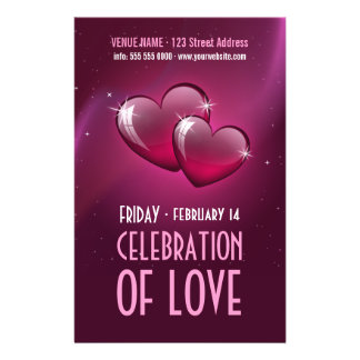 Candy Hearts - Valentine s Day party flyer