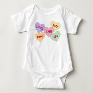 Candy Hearts   Valentine's Day Baby Bodysuit