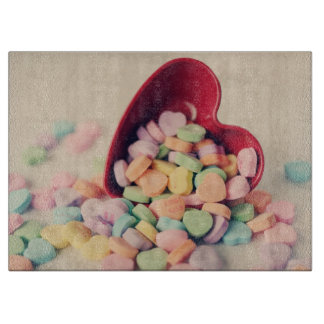 Candy Hearts Valentines Day Cutting Board