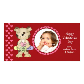 Candy Hearts Valentine's Day Personalized Photo Card