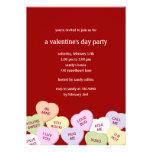 Candy Hearts Valentine's Party Invitation Invite