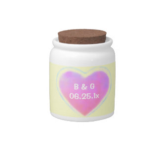 Candy Hearts WEDDING Candy Jars