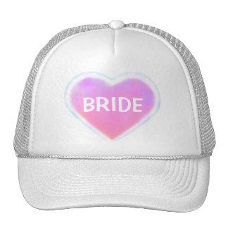 Candy Hearts WEDDING Mesh Hat