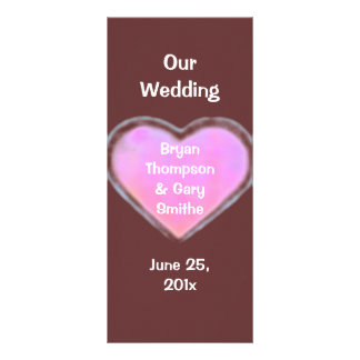 Candy Hearts WEDDING Program