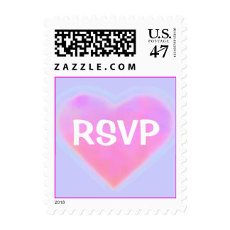 Candy Hearts WEDDING RSVP Postage
