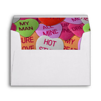 Candy Hearts With Sweet Sayings Envelope