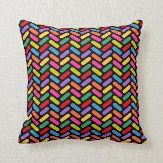 Candy Herringbone Pattern Throw Pillow