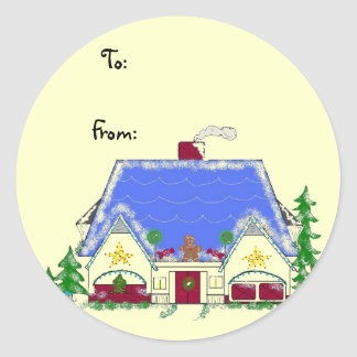 Candy House Classic Round Sticker