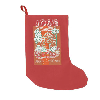 Candy House Customizable Templete Small Christmas Stocking