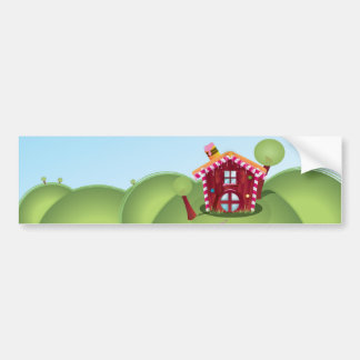 Candy house on the Hill Car Bumper Sticker