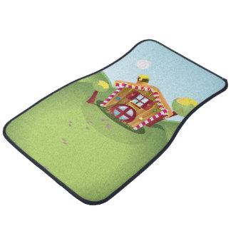 Candy House on the Hill Car Floor Mat
