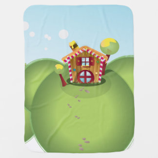 Candy House on the Hill Stroller Blanket
