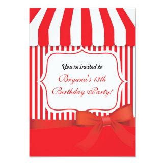 "Candy Ice Cream Parlor Shop Old Fashion Invitation 5"" X 7"" Invitation Card"