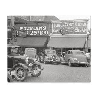 Candy & Ice Cream Shop, 1938 Canvas Print