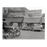 Candy & Ice Cream Shop, 1938 Postcard